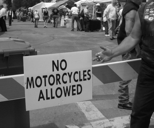 No Motorcycles Allowed