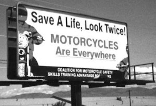 Motorcycle Awareness Billboard